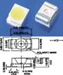 Яркий Светодиод LED SMD 3528 Желтый (комплект 100 штук)