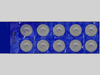 Круги шлифовальные без отв. 40 мм. Набор из 10 штук + 2 держател