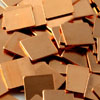 Медные пластины теплоотвод набор 30 штук 15х15мм толщина 0,3 0,5