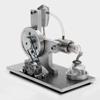 Двигатель Стирлинга, действующая модель с генератором на 5вольт -