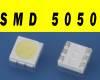 SMD LED 5050 трехчиповый, белый (Комплект 50шт)